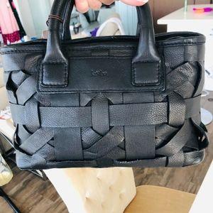 Kooba Black Leather Mini handle/crossover bag